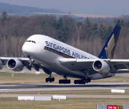 avión de Singapore Airlines